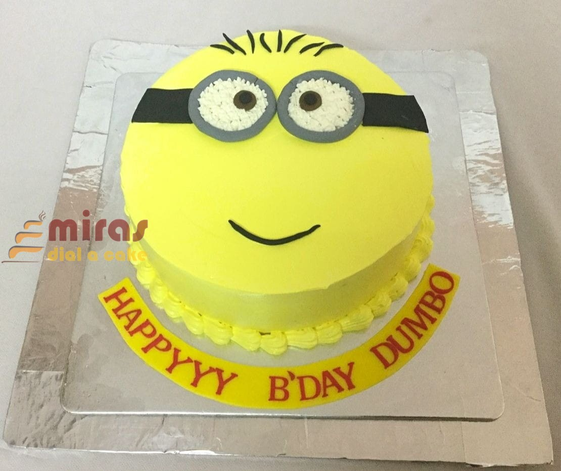 Superb Online Minion Theme Birthday Cake Customised Cakes Delivered In Funny Birthday Cards Online Elaedamsfinfo