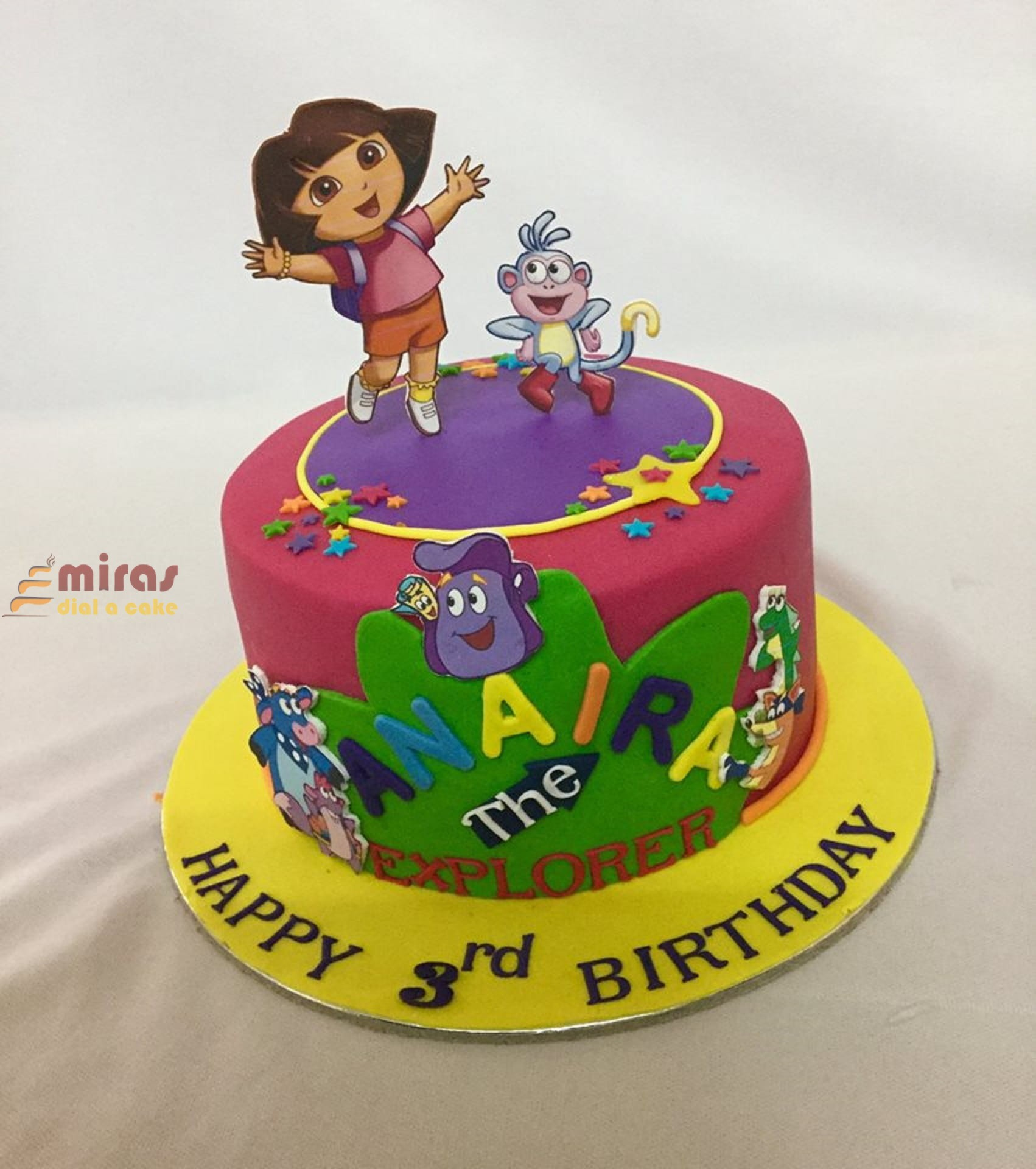 Groovy Online Birthday Cake Dora Theme Cake Online Birthday Cakes For Funny Birthday Cards Online Alyptdamsfinfo