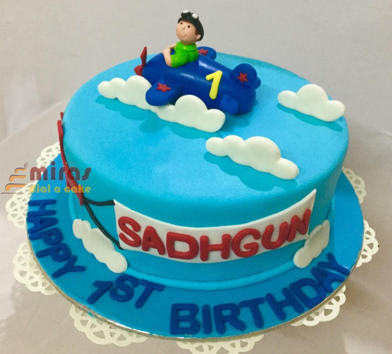 Fine Online Aeroplane Theme Birthday Cake Customised Cakes Delivered Funny Birthday Cards Online Inifofree Goldxyz