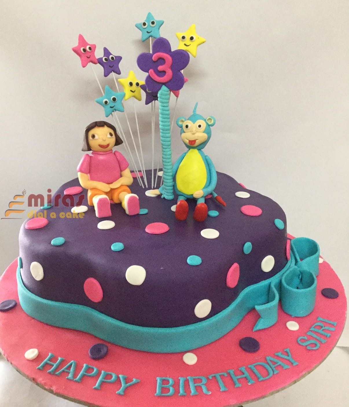 Birthday Cakes Near Me.Siri S 3rd Birthday Dora Cake