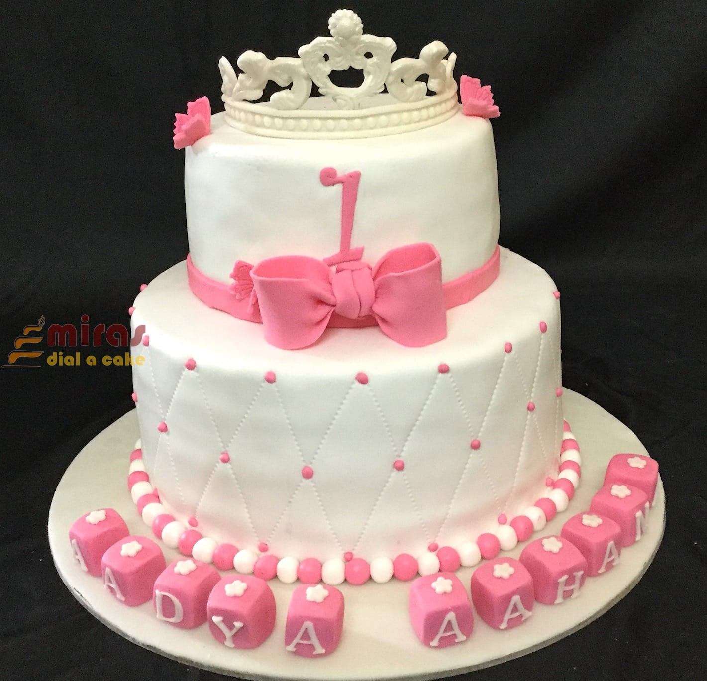 Kg Near Me >> Customized 1st Birthday Tiara Cake