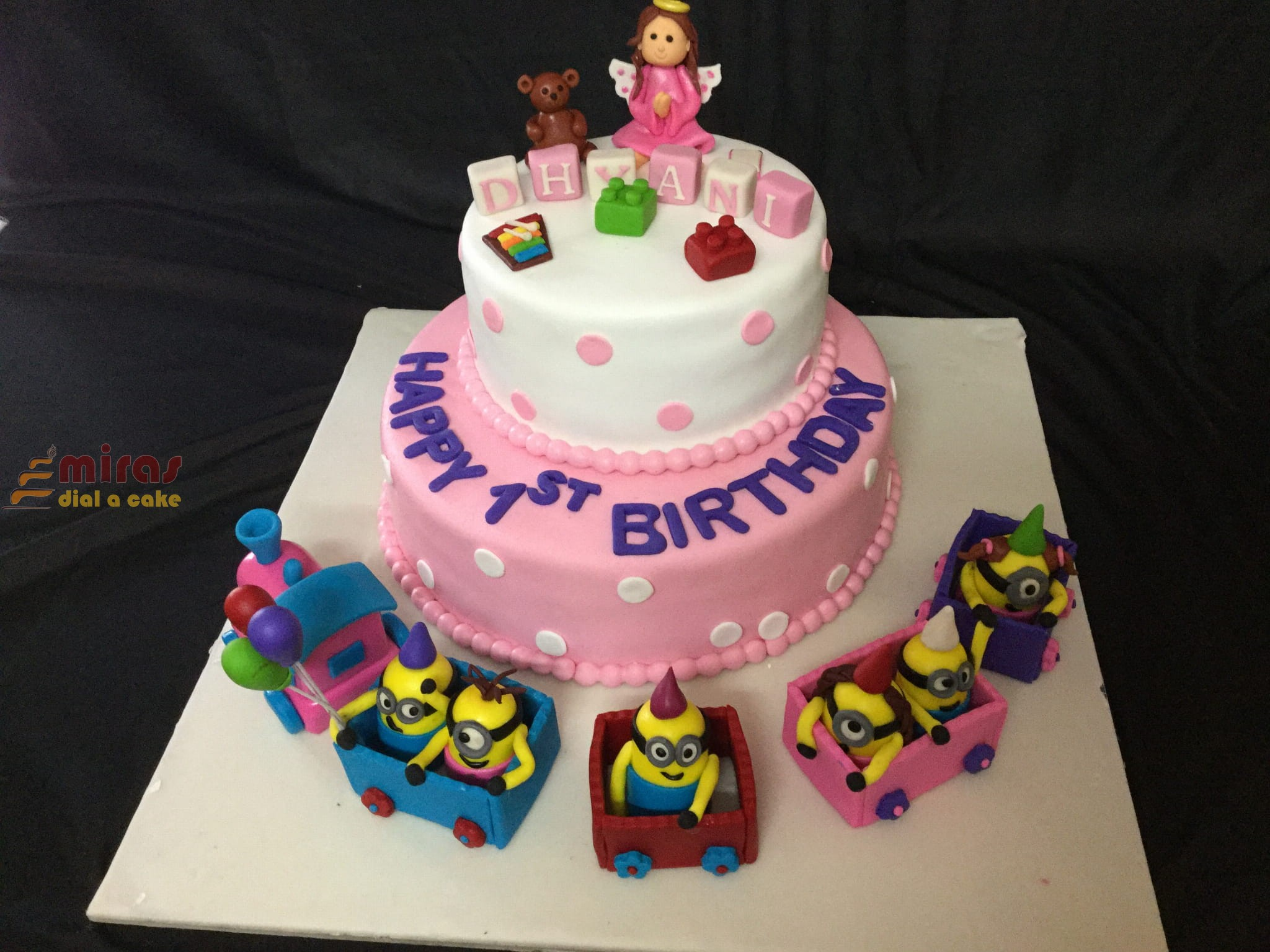 Groovy 1St Birthday Cake Online Minion Train Birthday Cakes Bangalore Funny Birthday Cards Online Fluifree Goldxyz