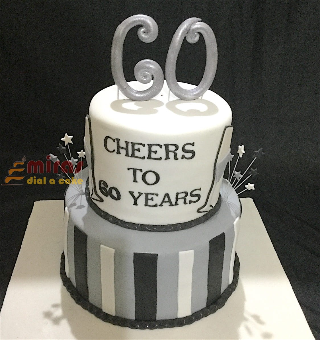 Cheers To 60 Years Cake 2Kg 3600JPG
