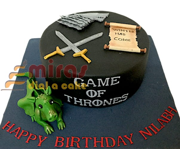 Awesome Online Game Of Thrones Theme Cakes L Bangalore Home Delivery L Personalised Birthday Cards Cominlily Jamesorg