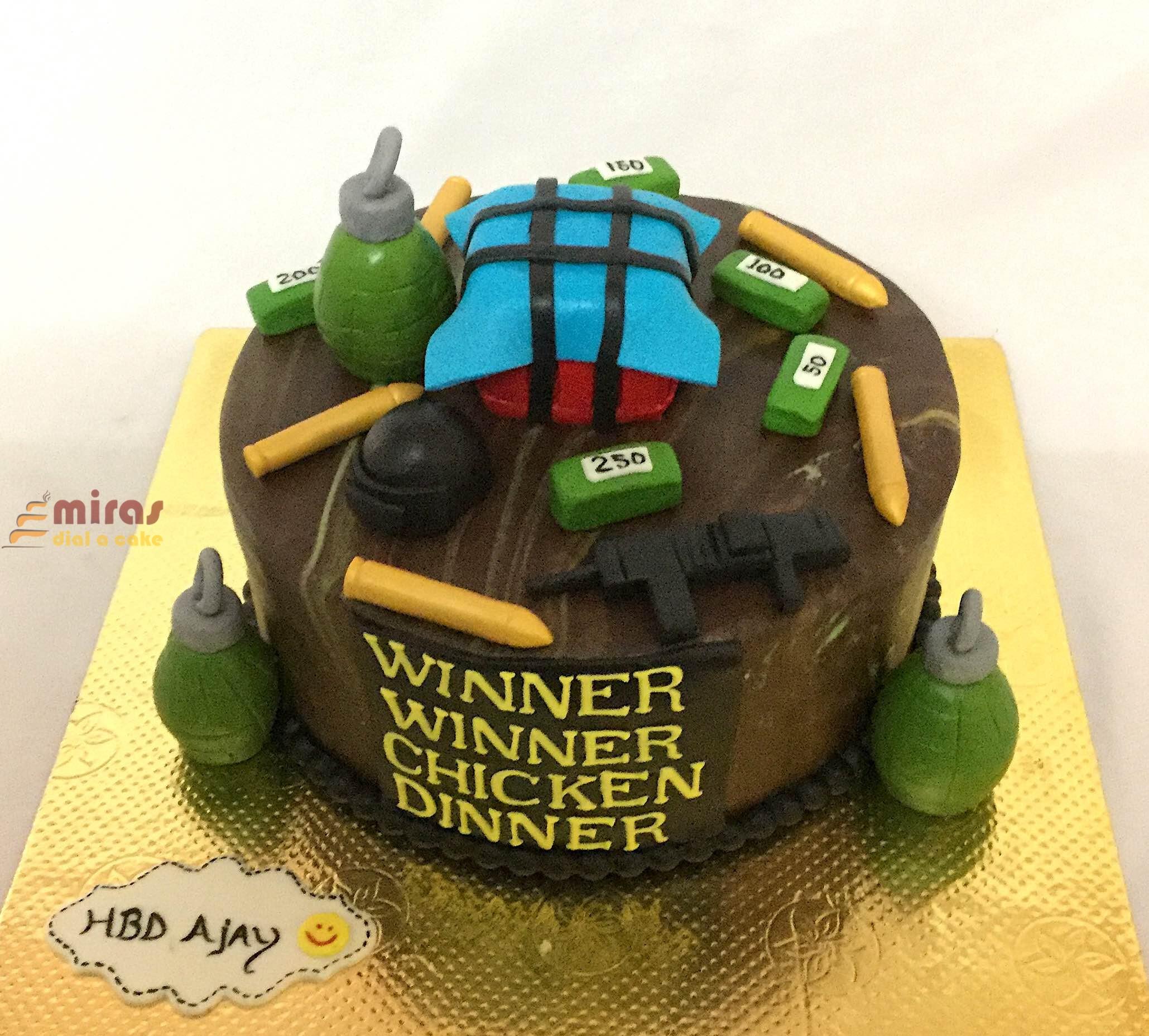 Strange Pubg Theme Birthday Cake Order Online Pubg Customized Cakes For Funny Birthday Cards Online Bapapcheapnameinfo