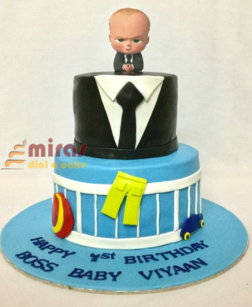 Magnificent Boss Baby Theme Birthday Cake Online Birthday Cakes Bangalore Birthday Cards Printable Riciscafe Filternl