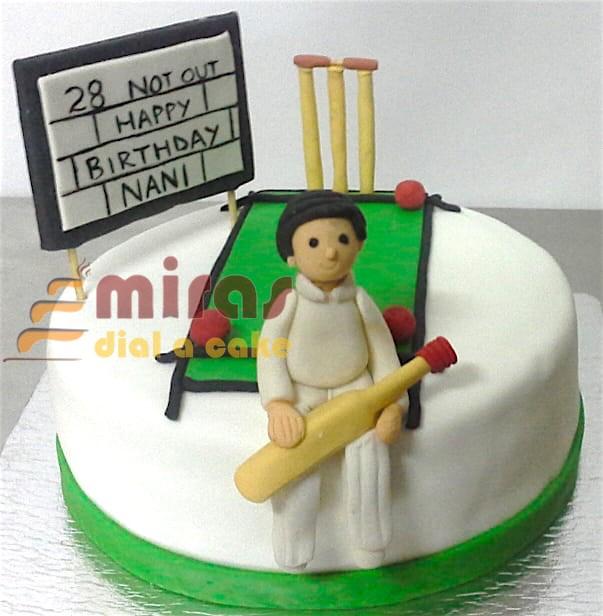 Amazing Cricket Theme Birthday Cake Online Birthday Cakes Bangalore Personalised Birthday Cards Paralily Jamesorg