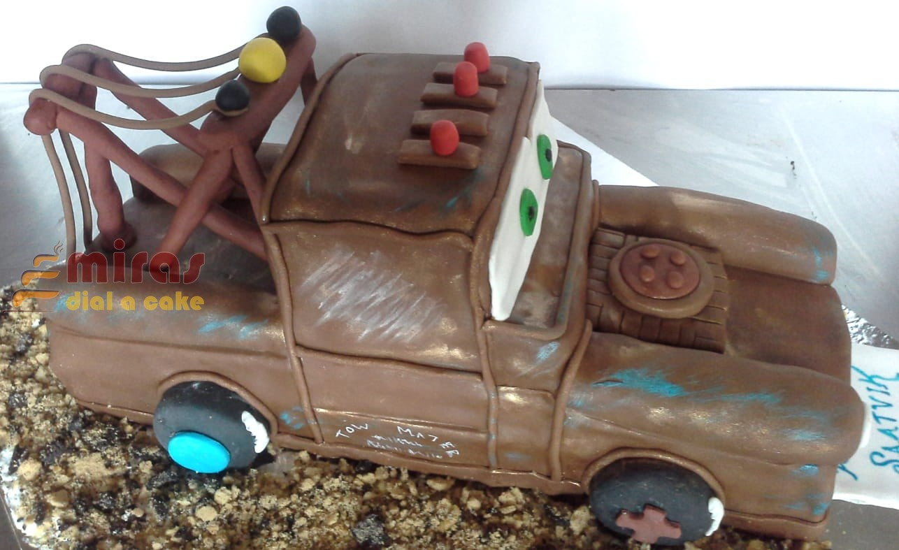 Miraculous Online Tow Mater Theme Birthday Cake Customised Cakes Delivered Funny Birthday Cards Online Kookostrdamsfinfo