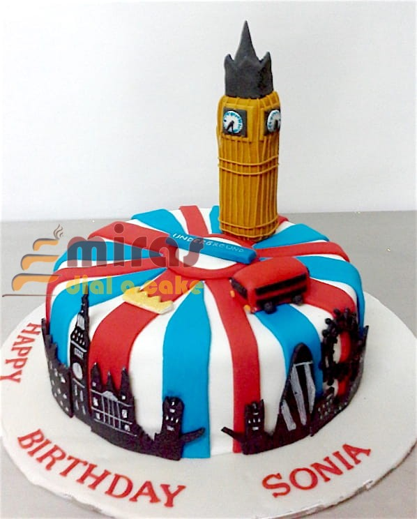 London Theme Cake 15 Kg 2850