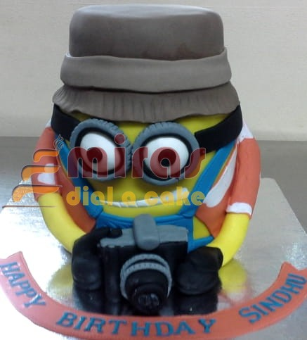 Remarkable Minion Theme Birthday Cake Online Birthday Cakes Bangalore Birthday Cards Printable Trancafe Filternl