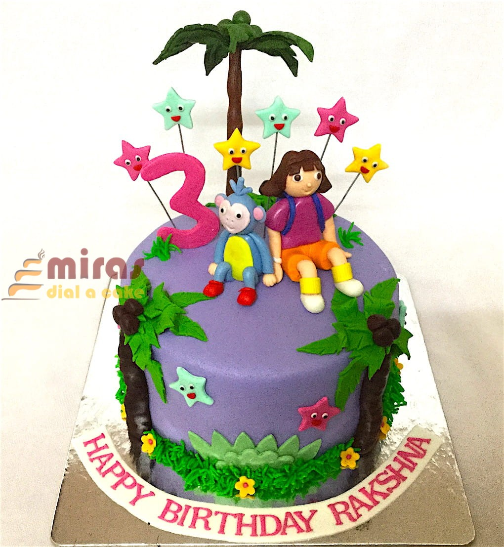 Fine Birthday Cake Dora Theme Cake Online Birthday Cakes For Kids Birthday Cards Printable Riciscafe Filternl
