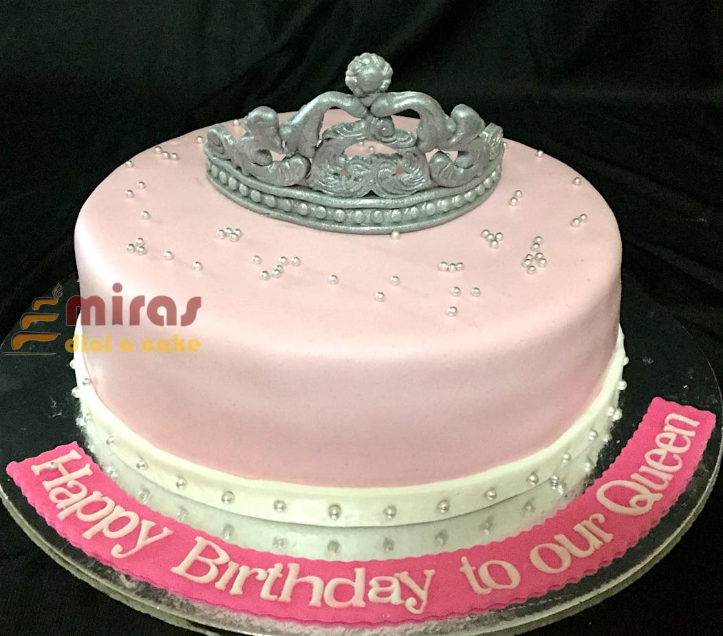 Magnificent Onlinetiara Theme Birthday Cake Customised Cakes Delivered In Funny Birthday Cards Online Inifofree Goldxyz