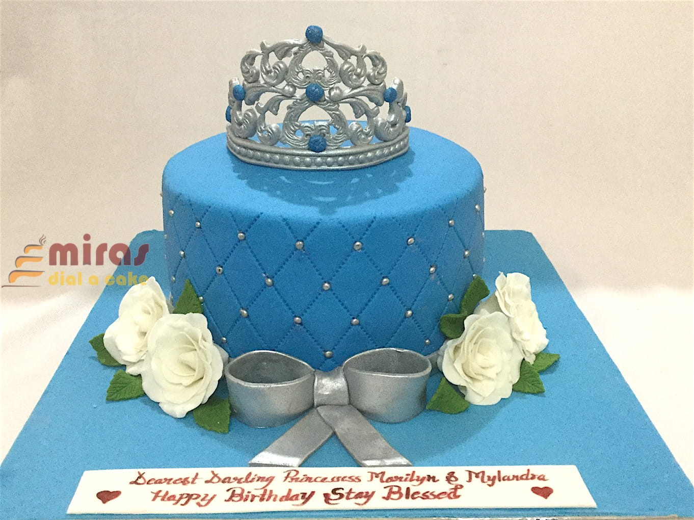 Pleasing Onlinetiara Theme Birthday Cake Customised Cakes Delivered In Personalised Birthday Cards Veneteletsinfo