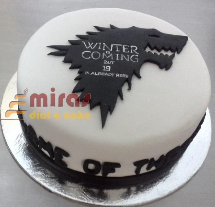GOT Birthday Cake 1 Kg GOT19thHBD