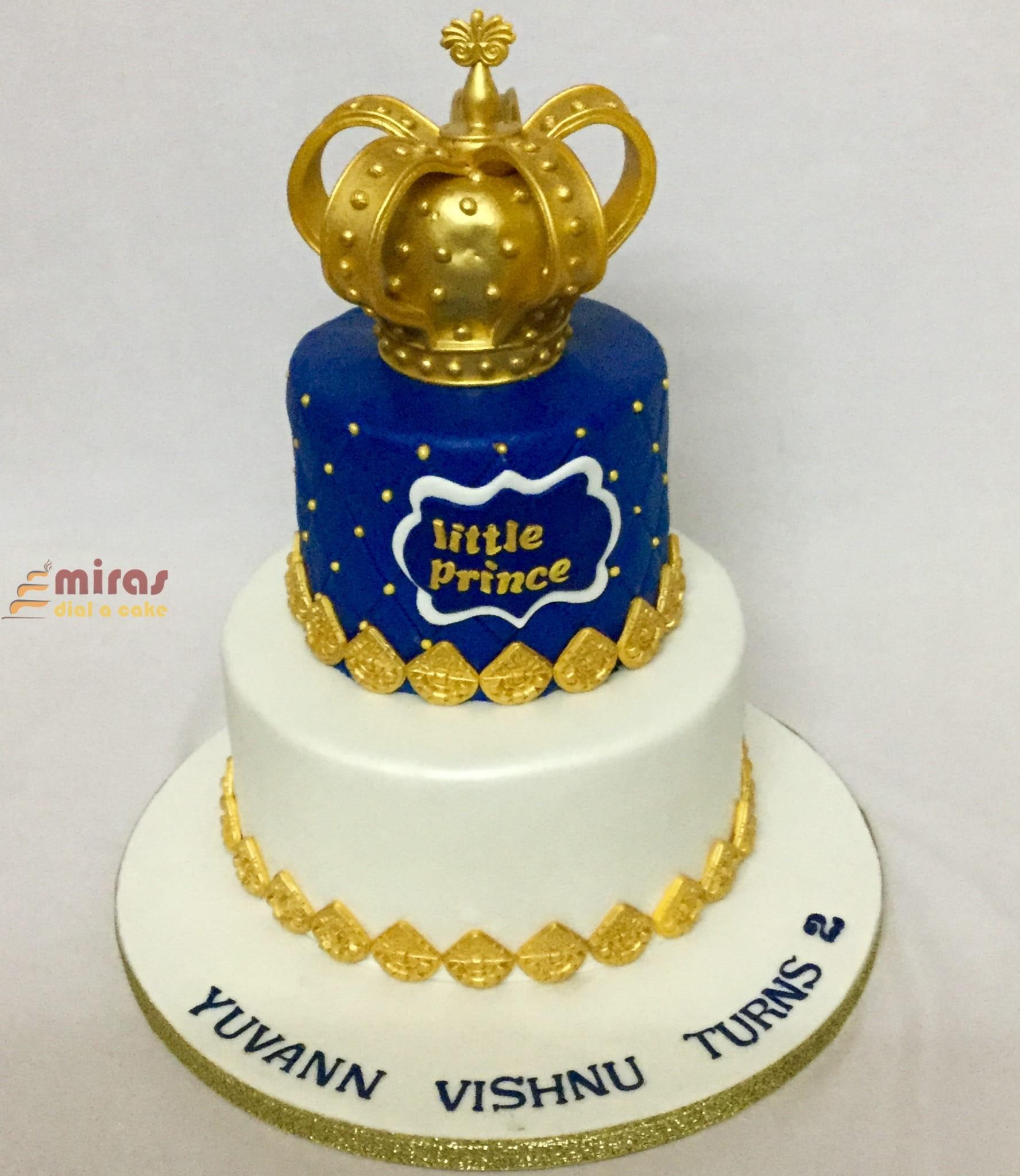 Phenomenal Online Crown Theme Birthday Cake Customised Cakes Delivered In Funny Birthday Cards Online Benoljebrpdamsfinfo