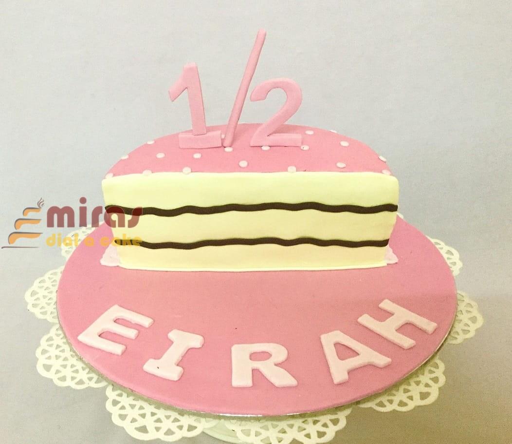 Incredible Online Half Birthday Theme Birthday Cake Customised Cakes Personalised Birthday Cards Paralily Jamesorg