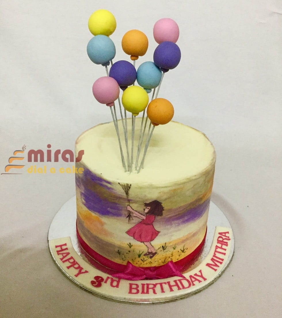 Online Customised Balloon Theme Birthday Cakes Designer Birthday Cakes Delivered In Bangalore