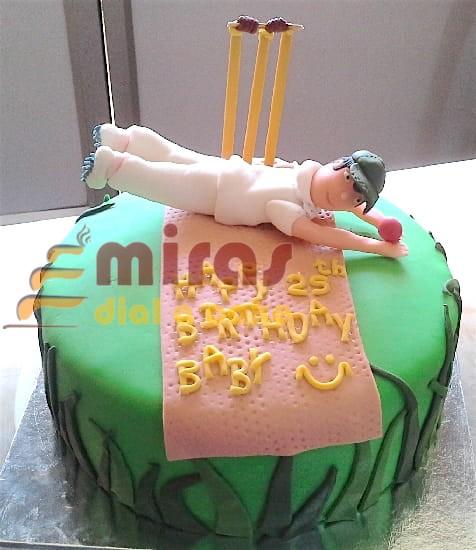 Cricket Theme Birthday Cake