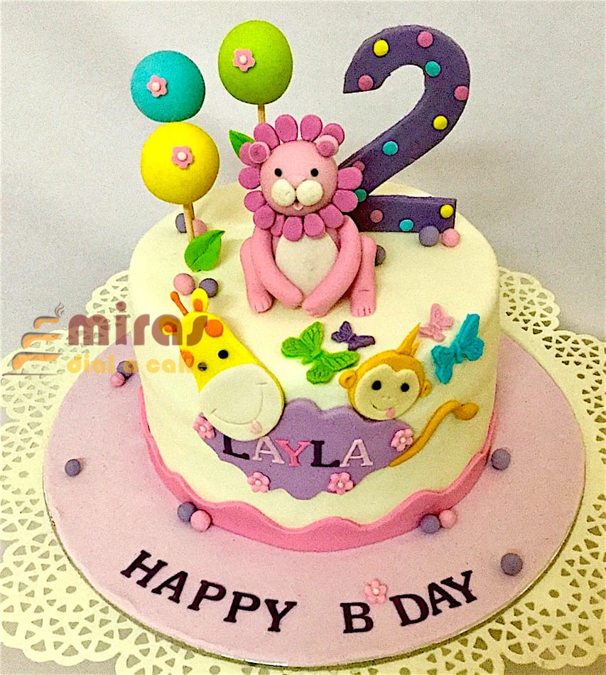 Animal Theme Layla Cake 1 Kg