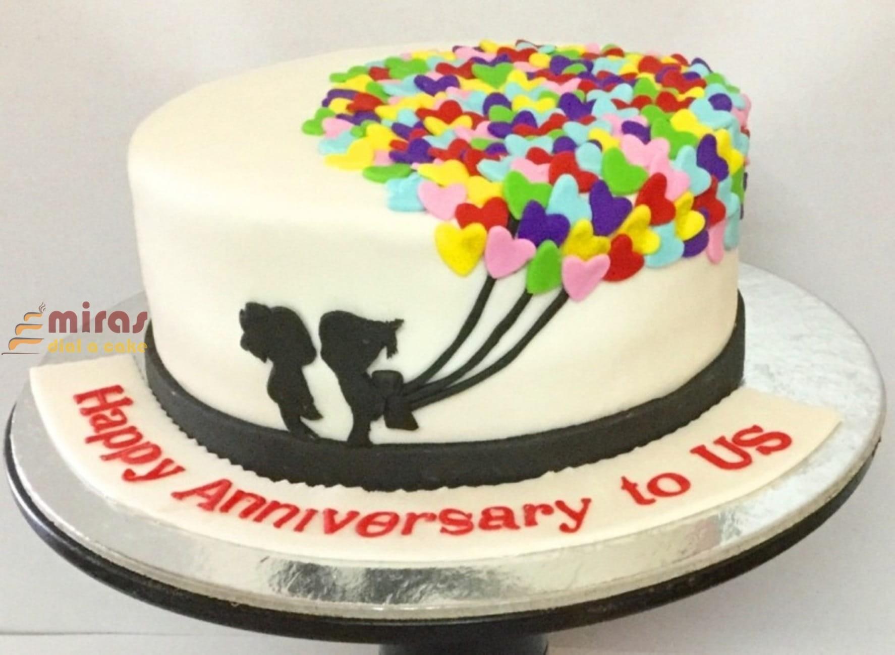 Anniversary To Us Cake