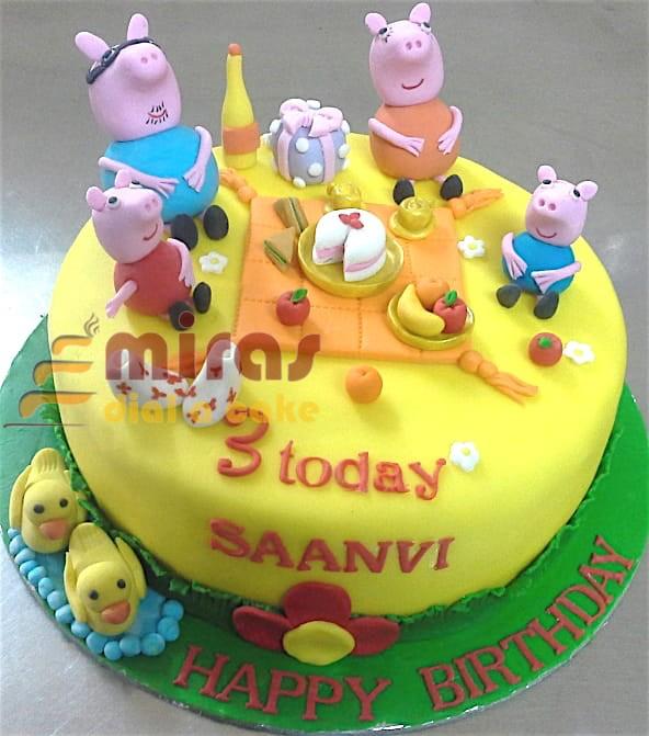 Miras Online Peppa Pig Theme Birthday Cakes For Kids I Order Online