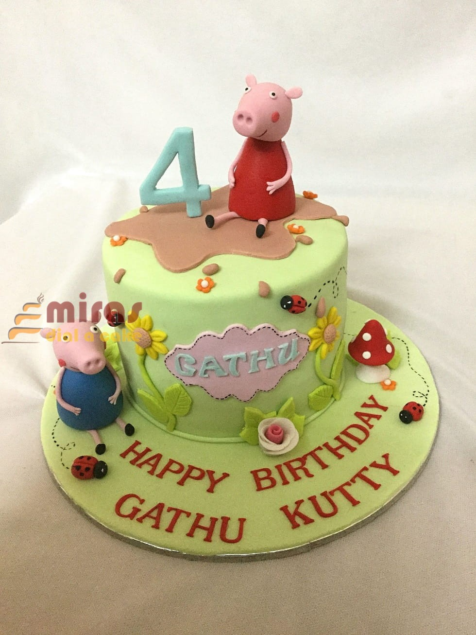 Astonishing Peppa Pig Theme Birthday Cake Online Customized Birthday Cakes Funny Birthday Cards Online Elaedamsfinfo