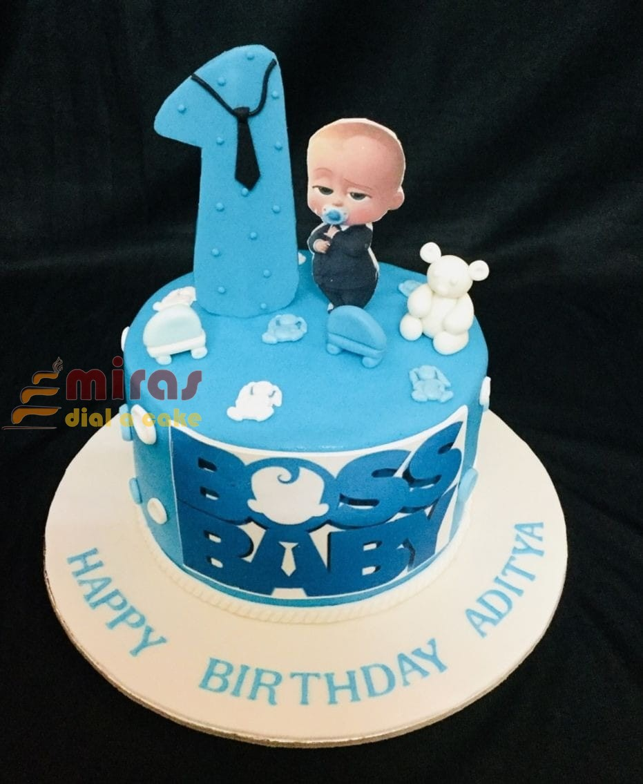 Magnificent Online Boss Baby Theme Birthday Cake Customised Cakes Delivered Funny Birthday Cards Online Sheoxdamsfinfo