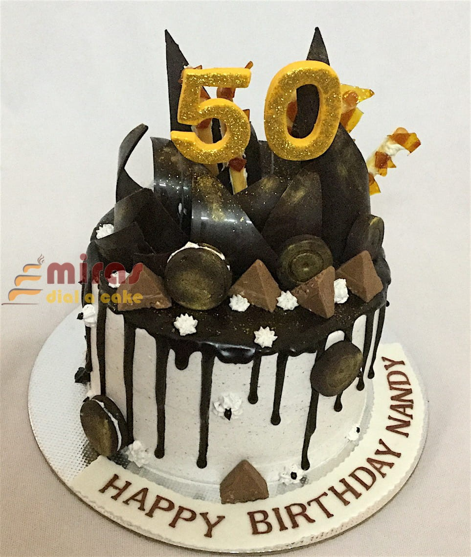 50th Birthday Chocolate Cake 15Kg 3000JPG