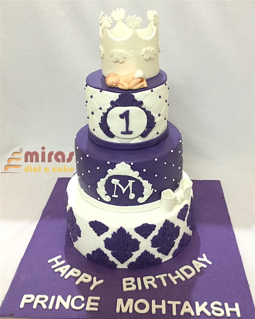 3 Tier Royal Crown Cake 6 Kg