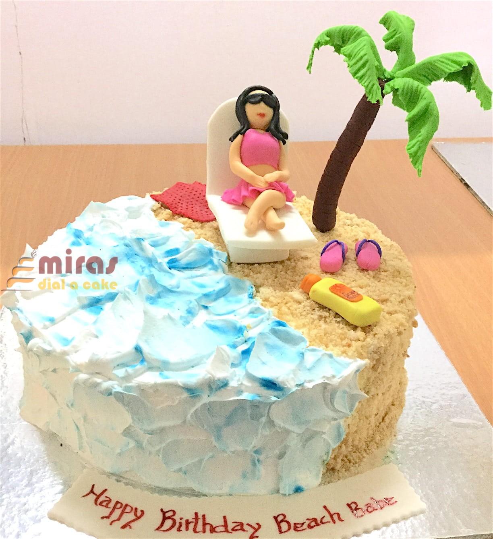 Beach Babe Birthday Cake