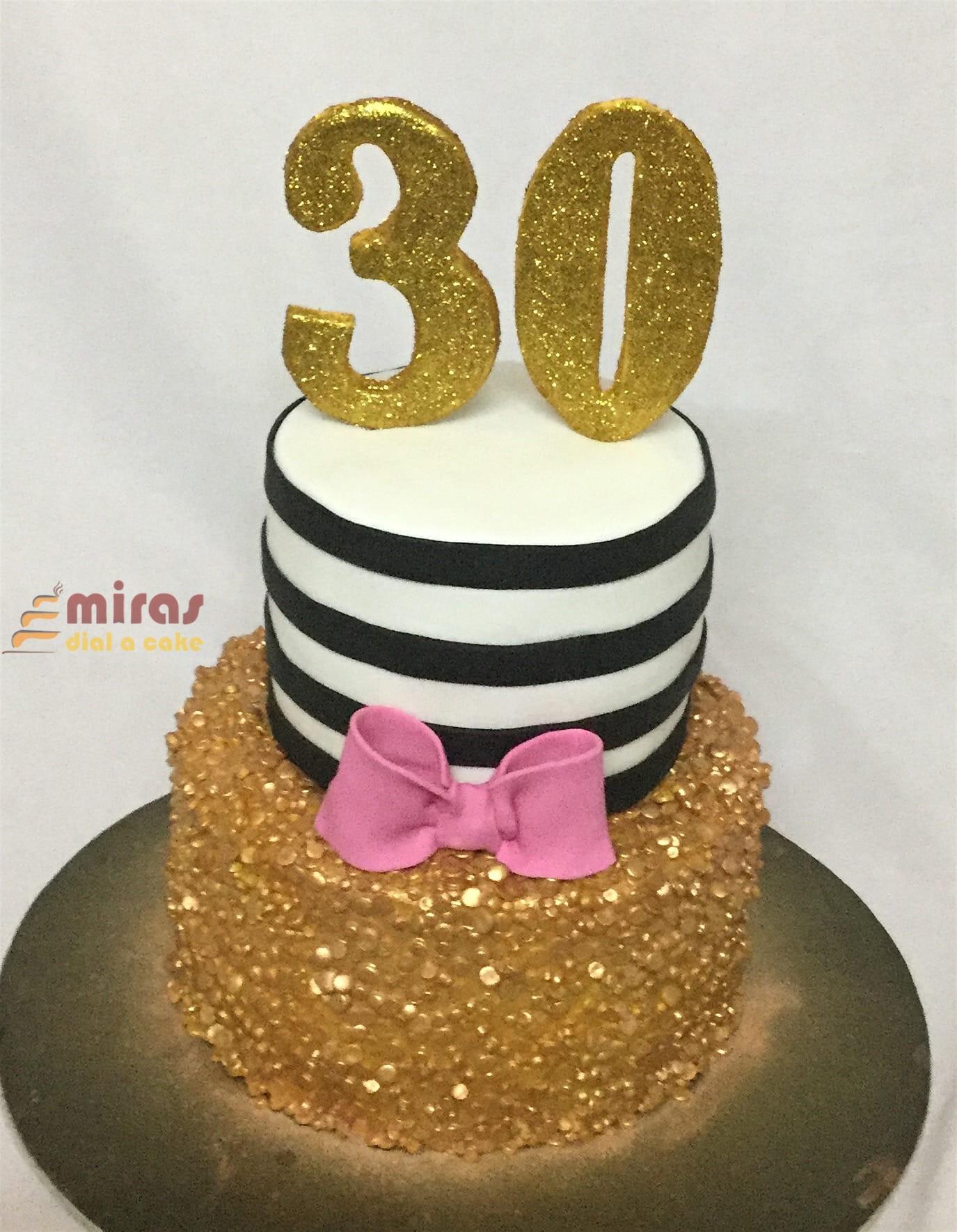 30th Birthday Cake 2kg 4400
