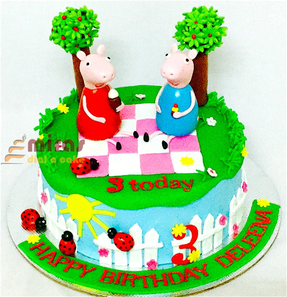 3rd Birthday Peppa Pig Cake 15kg 2850jpeg