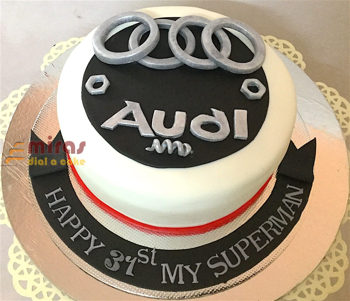 Online Audi Car Theme Custom Cakes L Bangalore Delivery L Car Cakes I Suv Cakes I Jeep Cakes I Miras