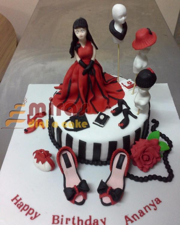 Ananya Fashion Designer Birthday Cake