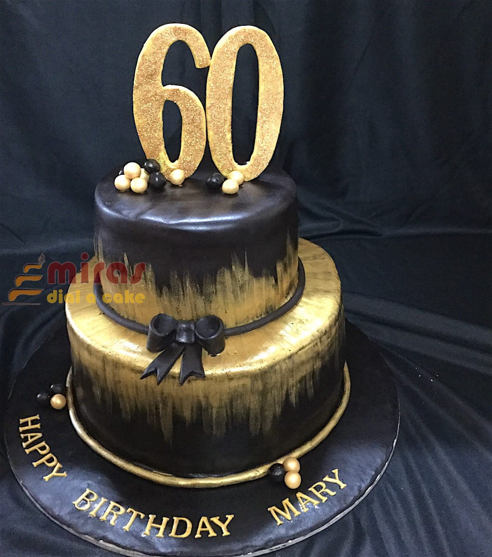 2 Tier 60th Birthday Cake Kg 4000 Jpeg