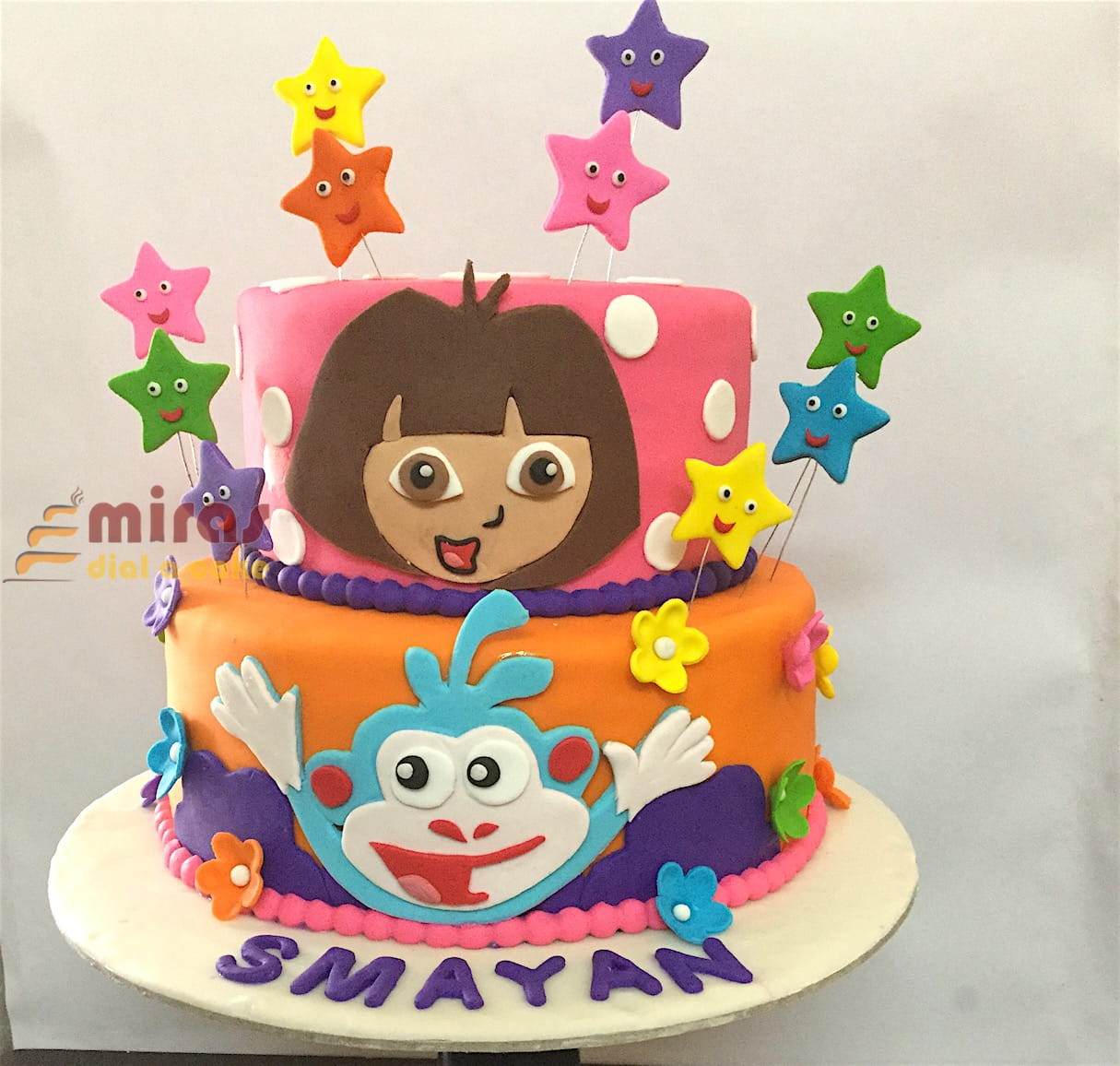 Birthday Cake Dora Theme Cake Online Birthday Cakes For Girls Bangalore Delivery Best Birthday Cakes Near Me L Miras
