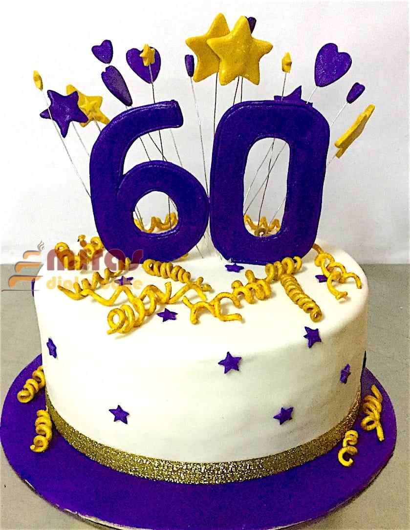 Sweet 60 Birthday Cake 1Kg 1950jpeg