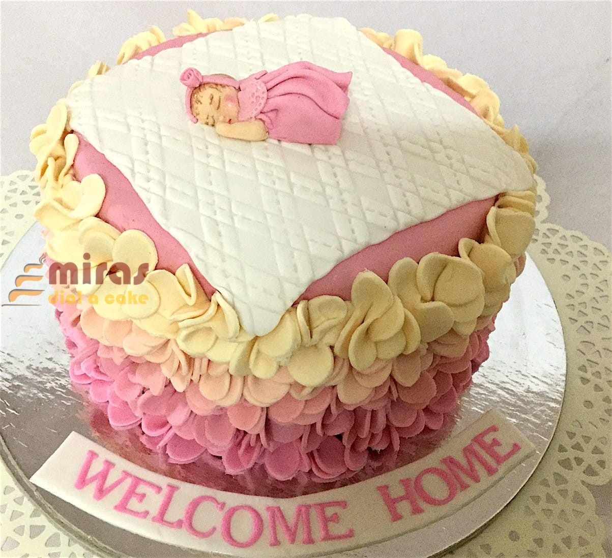 Welcome Home Baby Shower Cake