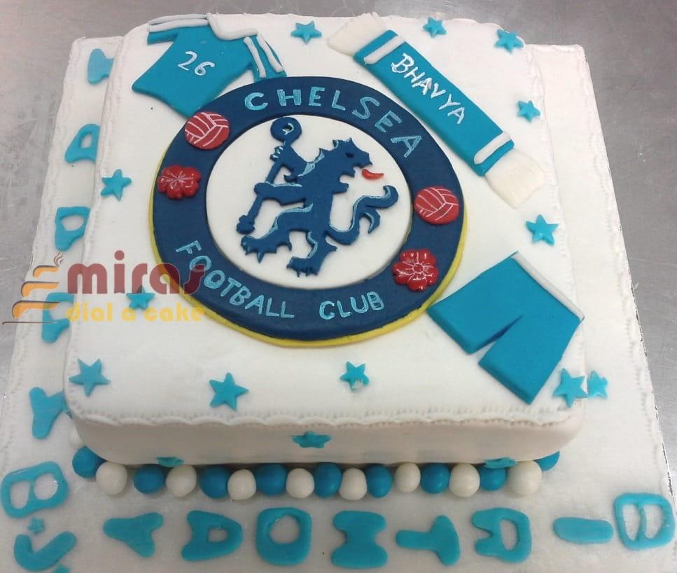Astounding Online Birthday Cakes Order Football Theme Birthday Cake For Personalised Birthday Cards Veneteletsinfo