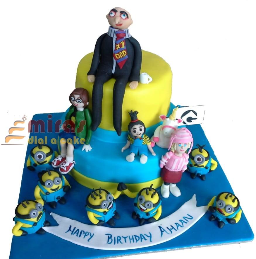 Astounding Birthday Cake Despicable Me Minion Theme Online Birthday Cakes Funny Birthday Cards Online Elaedamsfinfo