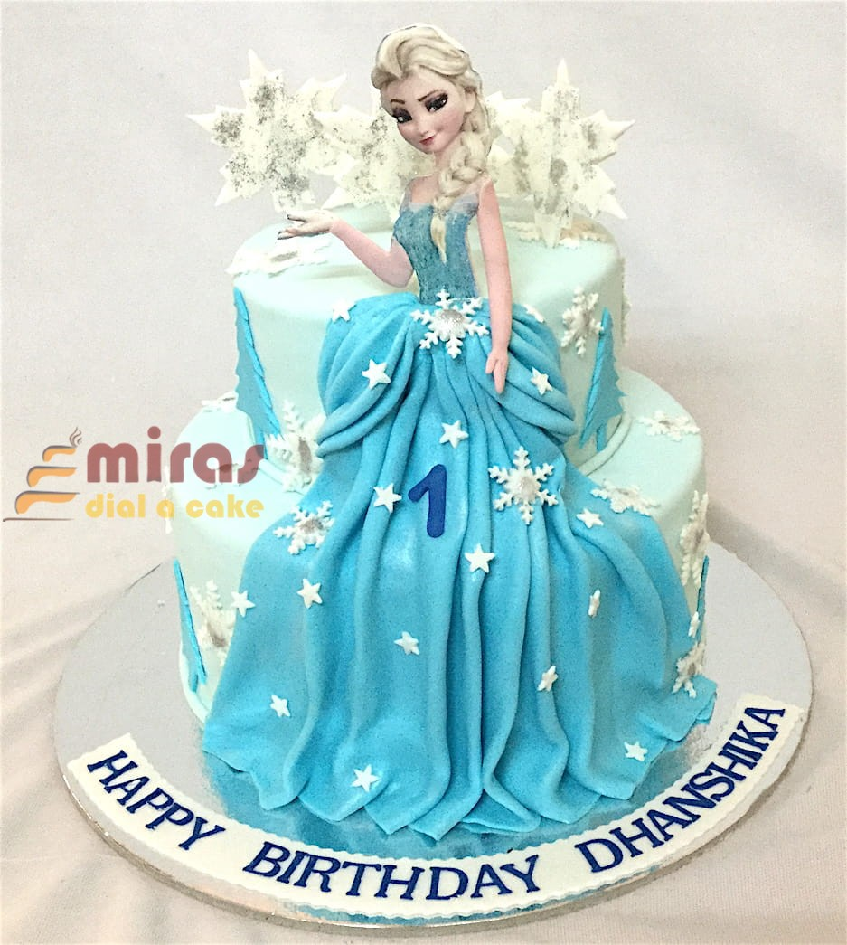 Swell 1St Birthday Cake Online Frozen Theme Cake Elsa Birthday Cakes Funny Birthday Cards Online Overcheapnameinfo