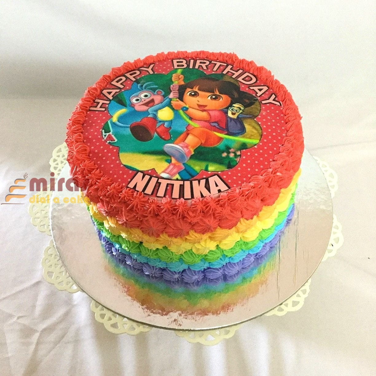 Swell Birthday Cake Dora Theme Cake Online Birthday Cakes For Kids Birthday Cards Printable Nowaargucafe Filternl