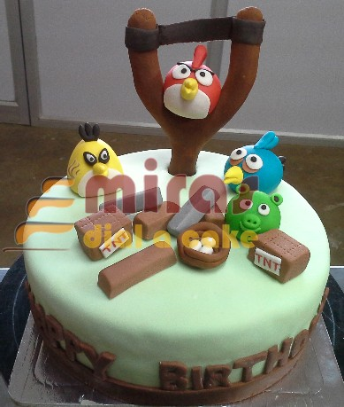 Magnificent Online Angry Birds Birthday Cakes Order Tnt Birds Custom Birthday Funny Birthday Cards Online Overcheapnameinfo