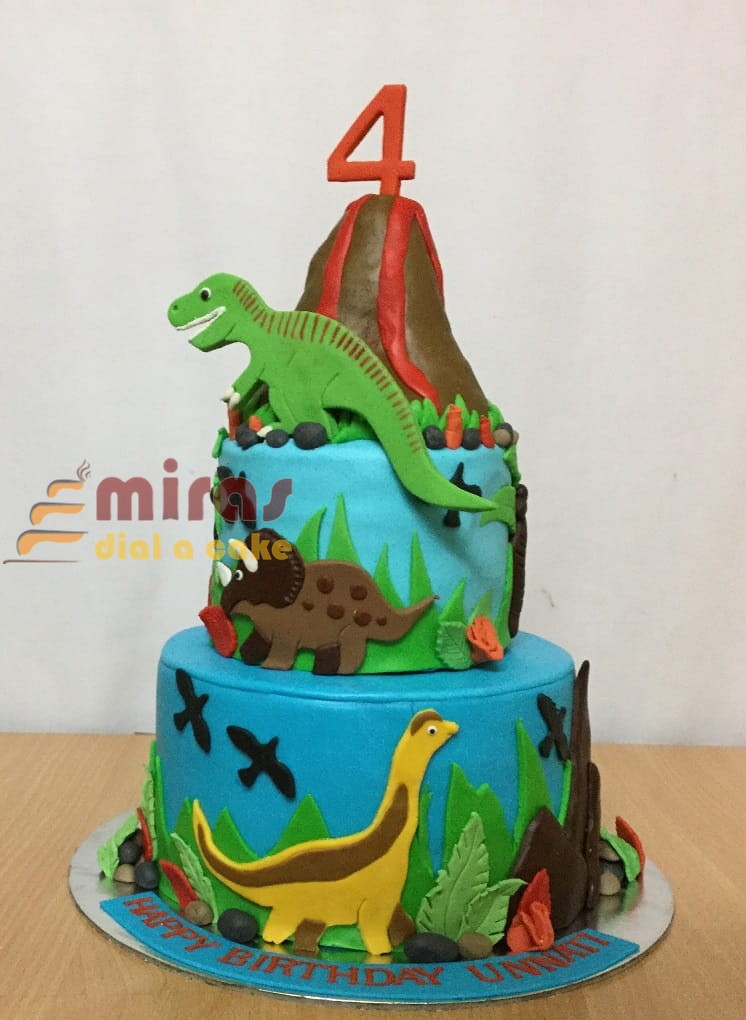 Surprising Online Birthday Cakes Order Dinosaur Theme Birthday Cake For Birthday Cards Printable Opercafe Filternl