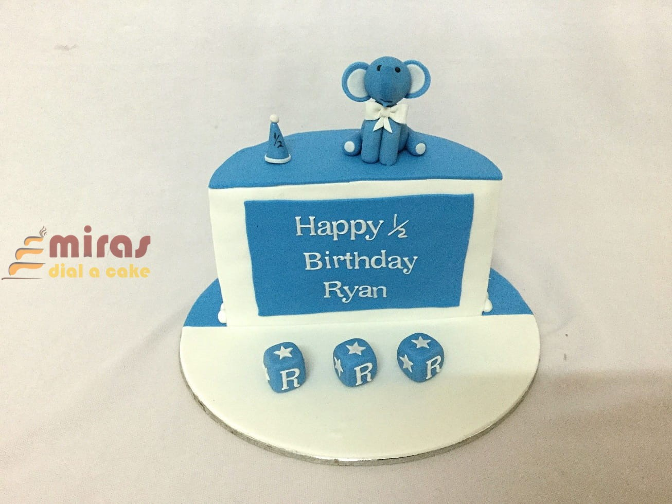 Elephant Half Birthday Cake 1kg