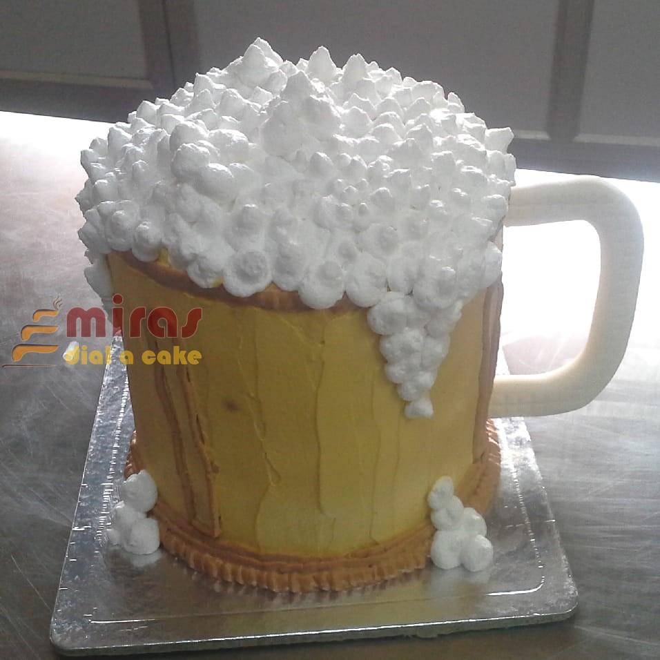 Beer Mug Birthday Cake