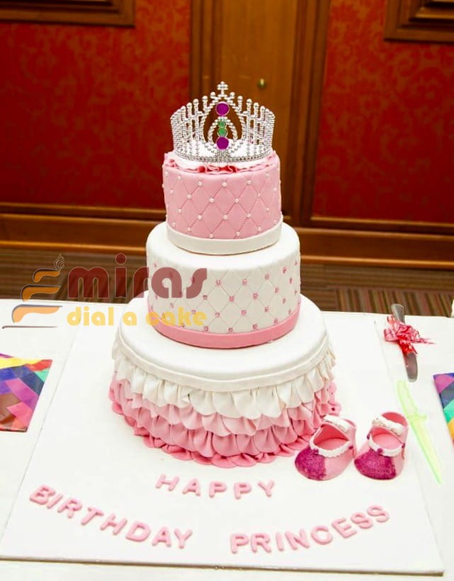Groovy Tiara Theme Birthday Cake Order Online Customized Cakes For Personalised Birthday Cards Cominlily Jamesorg