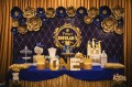 Custom Birthday Party Cake Royal blue & gold.jpg