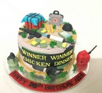 PUBG Theme 35th Birthday Cake