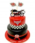 18th Birthday Biker Cake